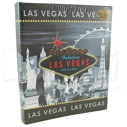 Las Vegas Strip Photo Album - Vintage Look Gray Skyline (Item #0430702)