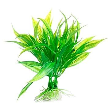 JAGETRADE Decoración para pecera, pecera, pecera, acuario, decoración, plástico artificial verde, planta de hierba de agua: Amazon.es: Hogar