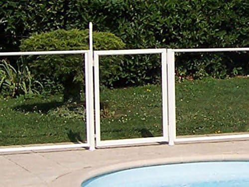 Chalet-Jardin 24 moduleportillon Barrera de protección para Piscina Puerta Transparente 90 x 117 cm: Amazon.es: Jardín