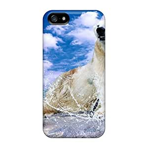 Fashion Tpu Case For Iphone 5/5s- Polar Splash Defender Case Cover