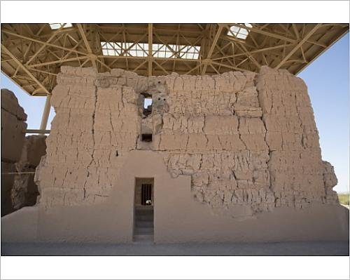 Photographic Print of Casa Grande (Great House) Ruins National Monument, home to the Sonora Desert