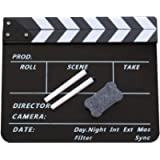 Coolbuy112 Movie Directors Clapboard, Photography Studio Video TV Acrylic Clapper Board Dry Erase Film Slate Cut Action…