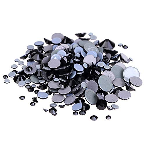 Strass Jet - Kamas Crystal Hotfix DIY Rhinestones For Nails ss6-ss30 And Mixed Jet Strass Nail Art Glass Stones 3D Jewelry Glitter Decorations - (Color: ss30 288pcs)