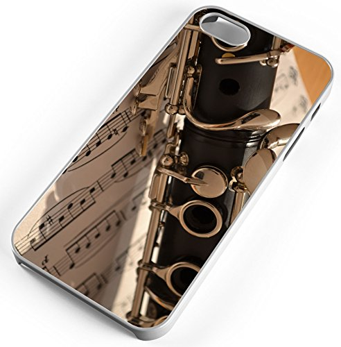 iPhone Case Fits Apple iPhone 5c Clarinet Band Instrument Band Camp Clear Plastic