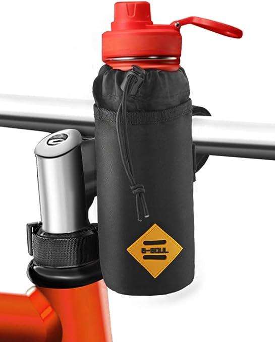 Comida Refrigerio Bolsa para Botella de Agua para Bici Estable Cuadro de Triangular para Marco y Manillar de Bici Aislante Interior Mantiene el Refresco de Bebidas Cocoda Portabidones Bicicleta