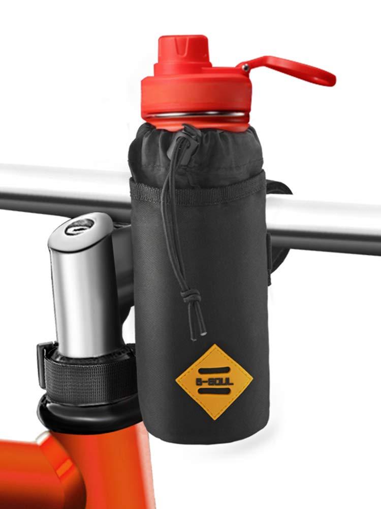 Bovon Bike Water Bottle Holder,Insulated Bike Bag with Stable Triangular Bike Frame & Handlebar Attachment Design, Lightweight Stroller & Bicycle & Bike Cup Holder for Drinks,Food,Snack Storage by Bovon
