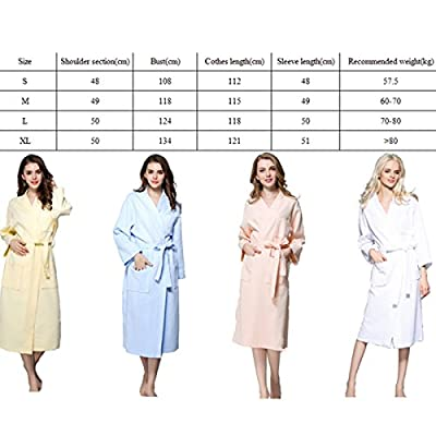 Borje Womens Multicolor Nightgown Long Sleeves Bathrobes Robes Sleepwear Dress