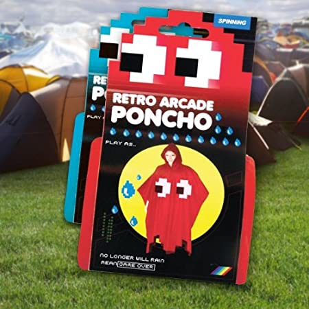 Spinning Hat Retro Arcade Poncho imperméable style Pacman Bleu ...