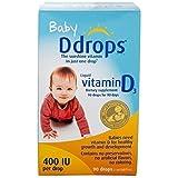 美国版 Ddrops 加拿大 婴儿天然维生素D3 滴剂90滴 助钙吸收 [跨境自营]包税