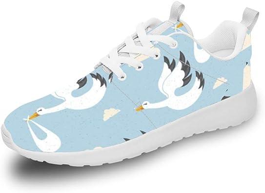 Mesllings - Zapatillas de Running Unisex con diseño de Cisne Blanco en Las Nubes, Ligeras y Deportivas, para Exteriores: Amazon.es: Zapatos y complementos