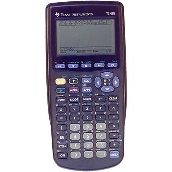 Amazon Com Texas Instruments Ti 89 Advanced Graphing Calculator
