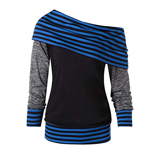 inverno felpa parola felpa girocollo Mymyg maglioni donne lunga autunno blu maglione per maglia raggi pullover manica deWrCoBQx