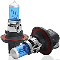 DZG Automotive Motorcycle Halogen Headlight Bulbs 5500K Warm White-2 Pack
