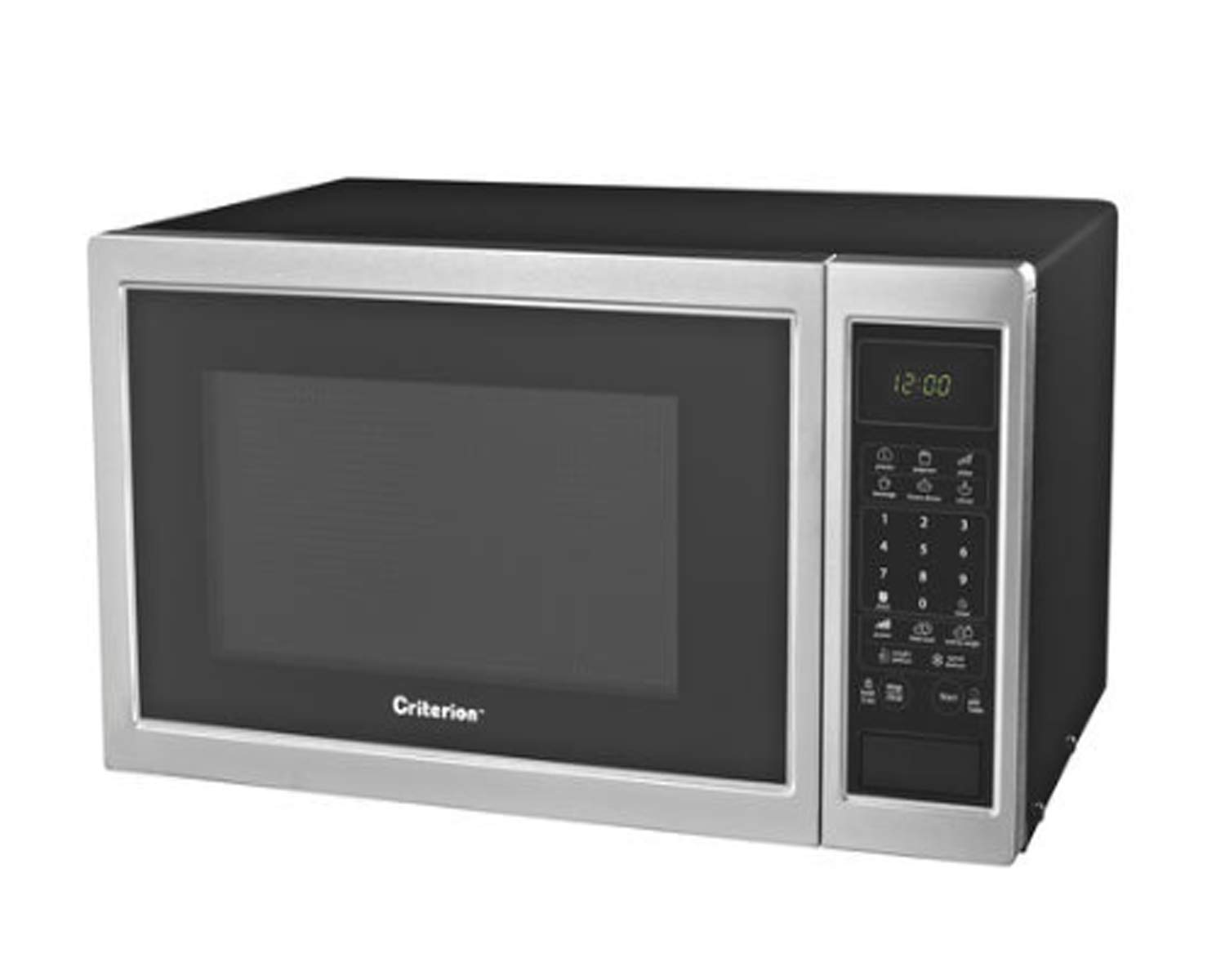Countertop Microwave with Electronic Touchpad Control and 6 Preprogrammed Popular Functions | Convenient, 900 Watts | 0.9 cu ft, Stainless Steel