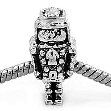 Star Holiday Christmas Spacer Charm for Silver European Bead Slide Bracelets
