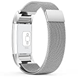 (US) For fitbit charge 2 Bands,TreasureMax Stainless Steel Replacement Accessory Bracelet band,Large,Small,Metal Bands for Fitbit Charge 2 band/charge 2 bands/fitbit charge 2(No Tracker)