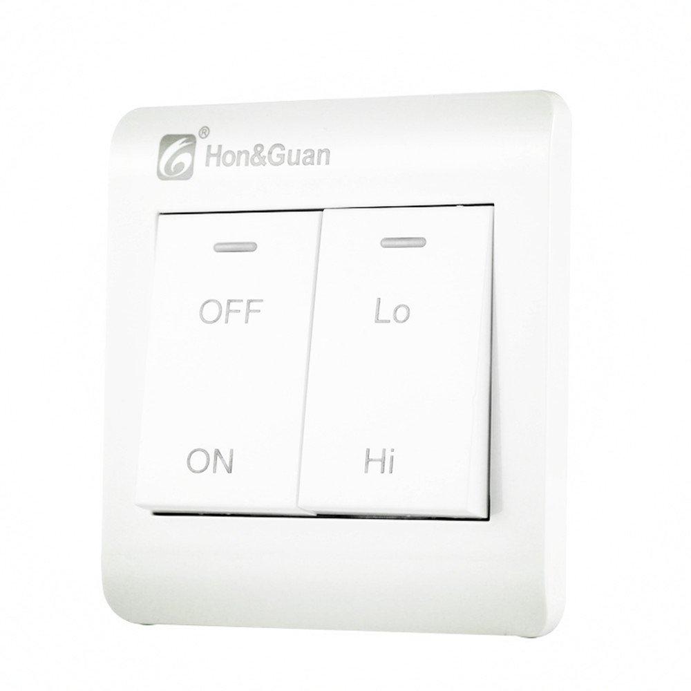 Hon&Guan Interrupteur à Deux Vitesses pour Ventilateur Aérateur d'Air ,10 Amp , 110-240V
