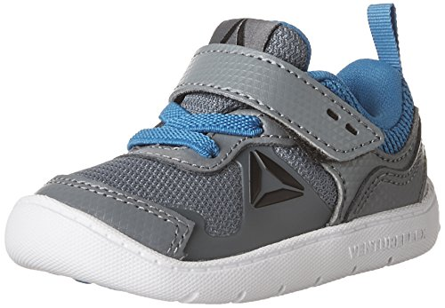 Reebok Kids  Baby Boy's Ventureflex Stride 5.0 (Toddler) Asteroid Dust/Risk Blue/Coal/White/Silver Metallic Athletic Shoe ()
