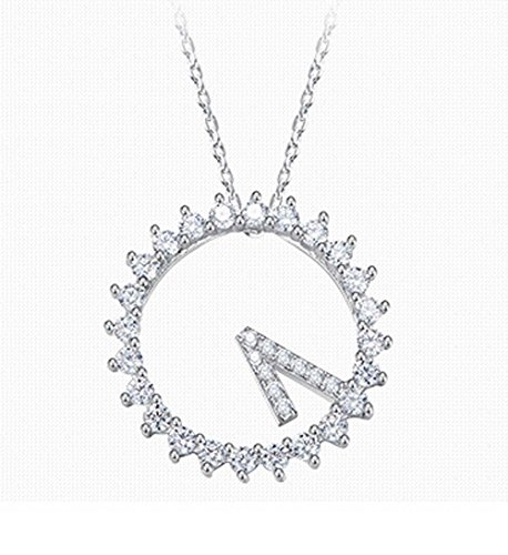 Necklace S925 Sterling Silver Ladies 520 Wall Clock Fashion Clavicle Chain Valentine's Day - 520 Wall