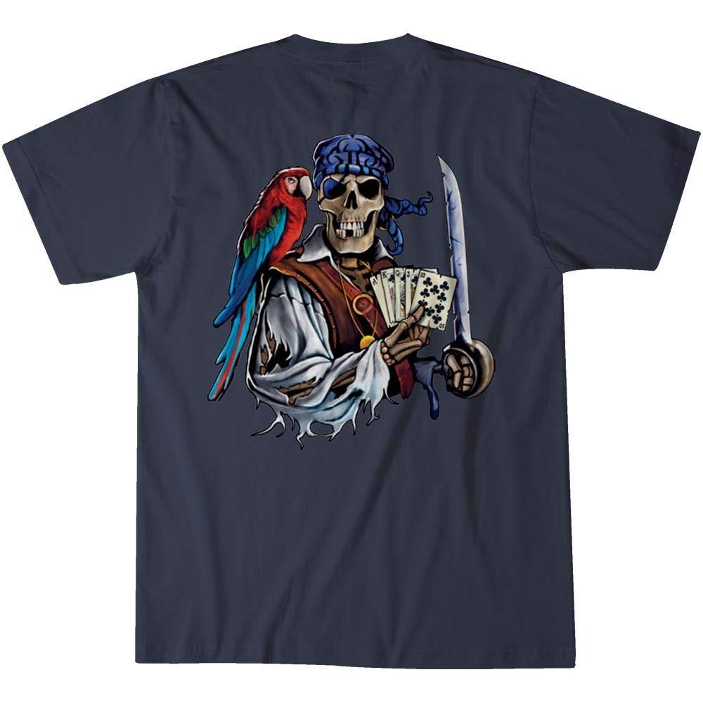 Island Jay Royal Straight Flush Pirate Poker T-Shirt