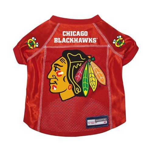 Chicago Blackhawks Premium Pet Dog Hockey Jersey w/ Name Tag - Dog Jerseys Nhl