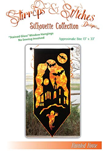 House Quilt - Haunted House Halloween Silhouette Stirrups & Stitches Quilt Pattern