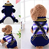 Glumes Pet Clothes, Doggie Puppy Cat Sweater with Suspenders Pet Windproof Warm Coat for Small Medium Large Dogs Or Cat Ideal
