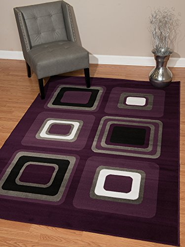 United Weavers of America Dallas Spaces Rug, 5 x 8 , Lilac