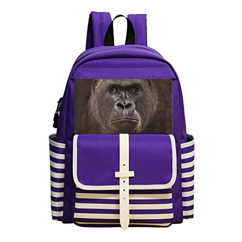 - Big Face Lowland Gorilla Student Backpack School Bag Style Boys&Girls Super Bookbag Break