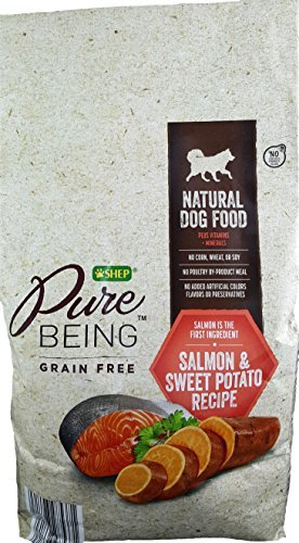 Shep Pure Being Grain Free Natural Dog Food (4lbs.) Salmon and Sweet Potatoe Recipe For Sale