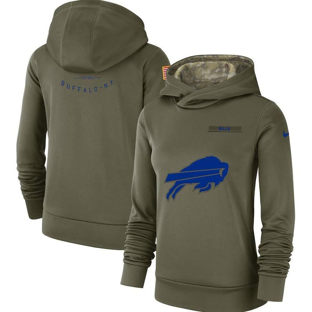 WLDSH Basketball Fan Sport Pullover Fußball Buffalo Bills Trainingsanzug Fitness Laufbekleidung T-Shirt mit Langen Ärmeln (Size : L)