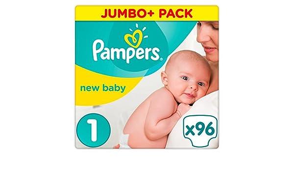 Paquete grande (mini) de 96 pañales talla 1 para recién nacido, de Pampers: Amazon.es: Salud y cuidado personal