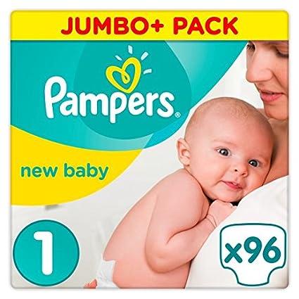 Paquete grande (mini) de 96 pañales talla 1 para recién nacido, de ...