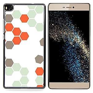 - Bee Hive Orange White Hexagon Pattern - - Monedero pared Design Premium cuero del tir???¡¯???€????€???????????