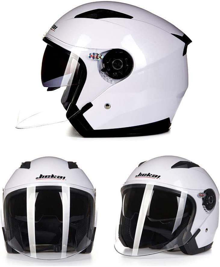 Blue Folconauto Motorcycle Scooter Helmet,Open Face Jet Crash Motorbike Helmet XXL