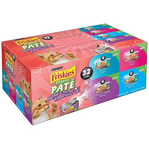 Purina Friskies Classic Pate Surfin & Turfin Favorites Cat Food Variety Pack 32-5.5 oz. Cans (32 cans - Pack of 5) by Purina Friskies