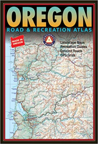 Oregon Map Image.Benchmark Oregon Road Recreation Atlas Third Edition Benchmark