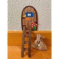 Puerta Ratoncito Pérez mágica con Carta, Escalera, Bolsita, Regalo original niño niña Ratón Pérez. Hecho a mano en…