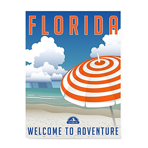 EzPosterPrints Retro Style Travel Poster Series- Poster Printing - Wall Art Print for Home Office Decor - FLORIDA - 12X16 ()