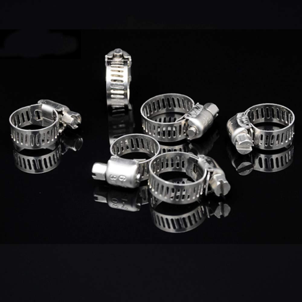 fascette stringitubo per tubi Fascette stringitubo in 7 dimensioni per applicazioni idrauliche automobilistiche e di approvvigionamento idrico 100 fascette regolabili in acciaio inox