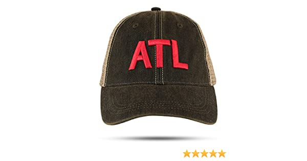 2e2fef8610dda Georgia Girl Red Embroidered ATL Trucker Hat Atlanta Airport Code  Unstructured Cap Great Gift at Amazon Women s Clothing store