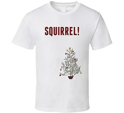 squirrel funny christmas vacation tree movie quote t shirt s white - Christmas Vacation Tree