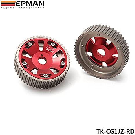 Blue, Pack Of 2 EPMAN Adjustable Cam Gears Timing Gear Pulley Kit For TOYOTA Supra 1JZ 2JZ TE