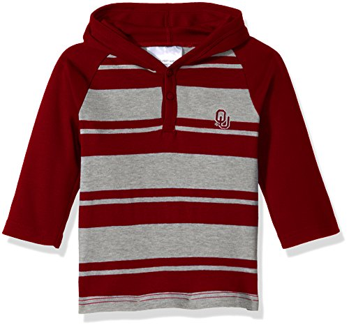 Sooners Rugby Oklahoma - Two Feet Ahead NCAA Oklahoma Sooners Toddler Boys Rugby Long Sleeve Hooded Shirt, Size 3, Crimson/Heather