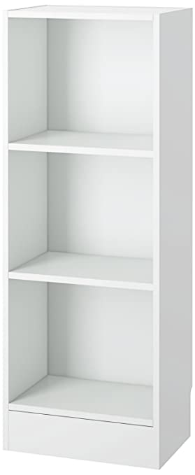 Tvilum 7177449 Element Narrow 3 Shelf Bookcase, Short, White by Tvilum