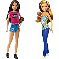 Barbie Great Puppy Adventure Skipper Doll and Puppy Adventure Stacie Doll Bundle