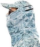 Aqua Design Adjustable Size Multipurpose Face Sports Water Camo Sun Protection Mask Breathing Holes Shield Pro+ Tube, Aqua Sky