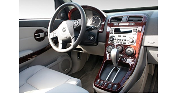 Wood Grain Rvinyl Rdash Dash Kit Decal Trim for Chevrolet Equinox 2007-2009 Burlwood Matte Pontiac Torrent 2007-2009