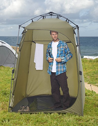 (Lightspeed Outdoors Xtra Wide Quick Set Up Privacy Tent, Toilet, Camp Shower, Portable Changing)