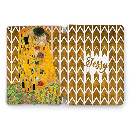 Wonder Wild Cute Apple New iPad Case 9.7 inch Mini 1 2 3 4 Air 2 10.5 12.9 2018 2017 Cover Space Skin Texture in Love Print Watercolor Your Text Pattern Orange Colorful Design Clear Smart Stand -
